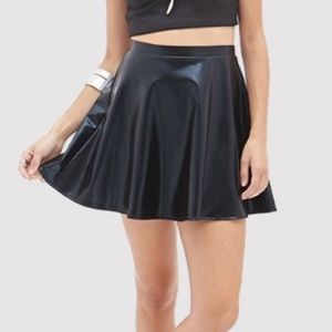 The American Apparel Fake Leather Skirt